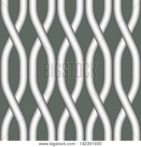 Seamless pattern with geometrical figures. Seamless vector abstract wave pattern background