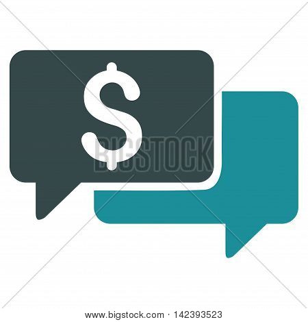 Price Bids icon. Vector style is bicolor flat iconic symbol with rounded angles, soft blue colors, white background.