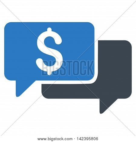 Price Bids icon. Vector style is bicolor flat iconic symbol with rounded angles, smooth blue colors, white background.