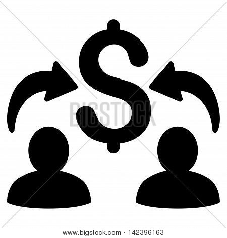 Money Changers icon. Vector style is flat iconic symbol with rounded angles, black color, white background.