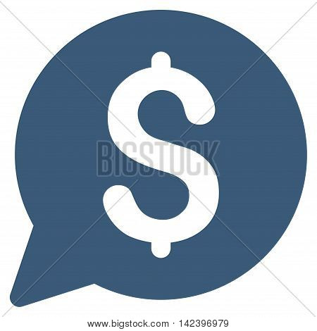 Bid icon. Vector style is flat iconic symbol with rounded angles, blue color, white background.