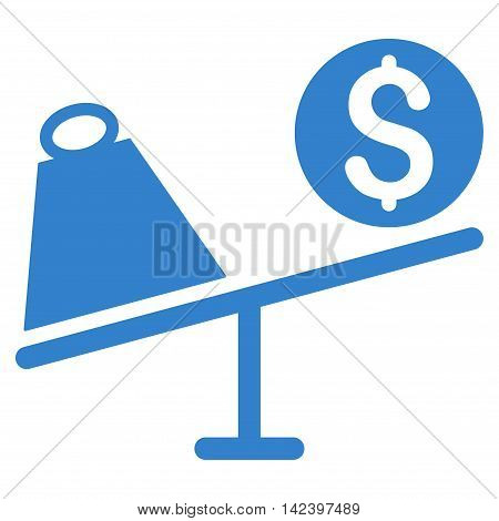 Trade Swing icon. Vector style is flat iconic symbol with rounded angles, cobalt color, white background.