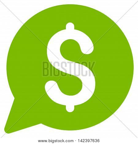 Bid icon. Vector style is flat iconic symbol with rounded angles, eco green color, white background.