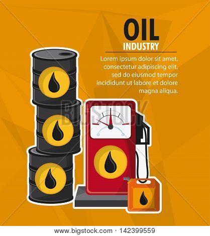 barrel drop dispenser oil industry production petroleum icon, Vector illustration