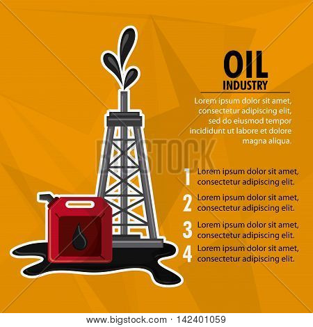 tower dispenser oil industry production petroleum icon, vector illustration