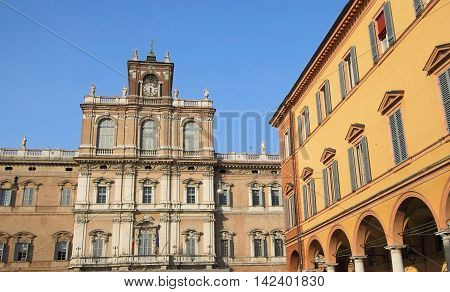 Ducal Palace and old town of Modena, unesco world heritage, Italy