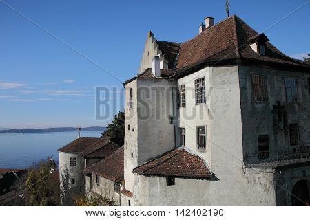 Castle of Meersburg at Lake Constance, Germany