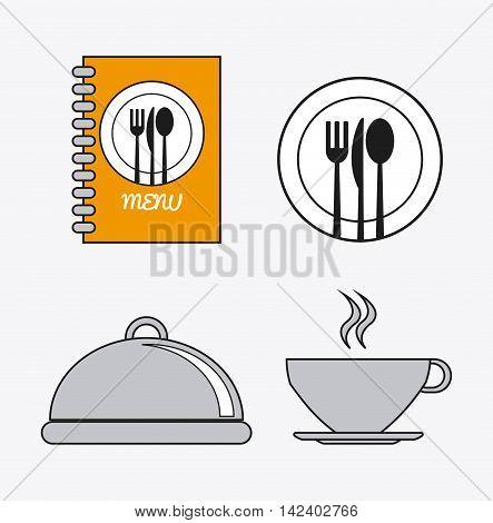 book cutlery plate mug catering service menu food icon