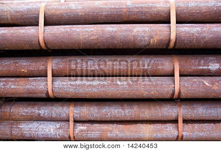 Rusty pipes heap