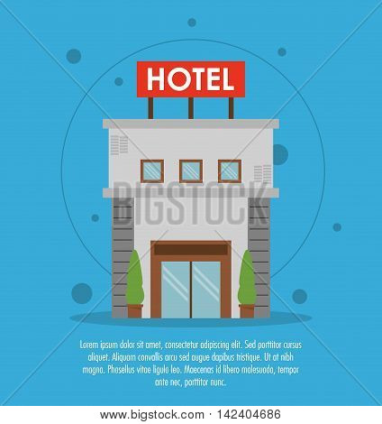 building hotel service icon. Colorfull and flat illustration, vector