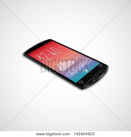 Illustration of Touchscreen smartphone isolated on white background