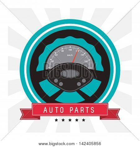 rudder auto parts vehicle car repair machine garage icon. Isolated and striped illustration