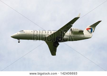 ST. PETERSBURG, RUSSIA - JUNE 24, 2016: Bombardier CRJ-200LR ( RA-67239) aviation enterprise