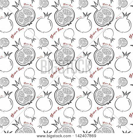 happy new year in Hebrew seamless pattern background. Hand drawn elements. Rosh Hashanah symbols. Vector illustration