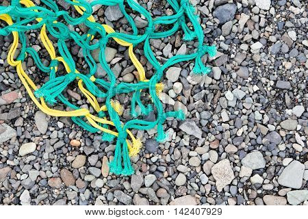 Fishing Nets On A Beach