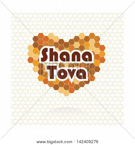 happy new year in Hebrew. Rosh Hashana greeting card. vector illustration