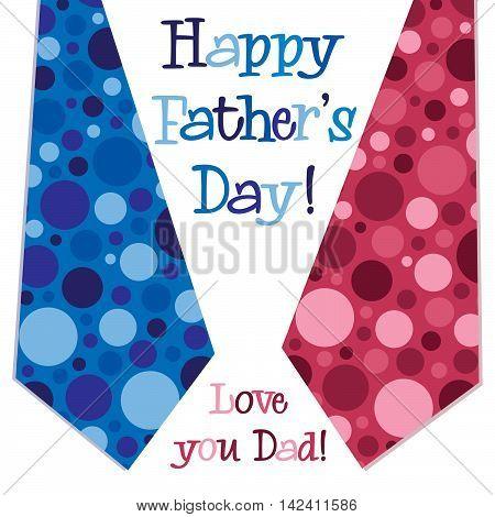 Bright Bubble Tie Happy Fathers Day Neck Tie Card