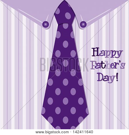 Bright Shirt And Tie Happy Fathers Day Neck Tie Card