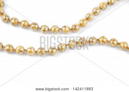 Pearl Necklace On White