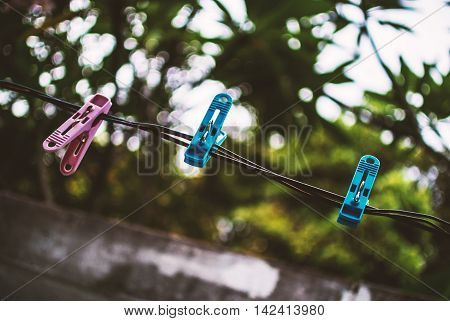 Clothes Peg With Soft Light
