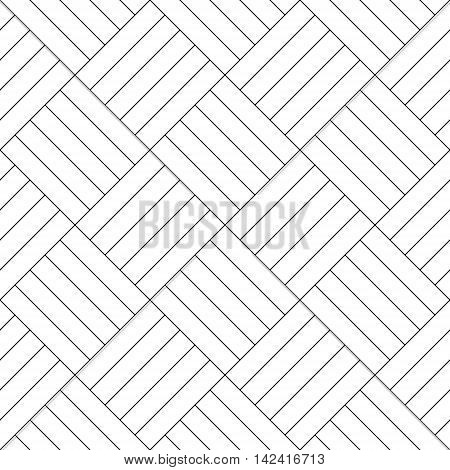Black and white simple wooden floor parquet seamless pattern, vector background