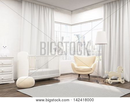 Baby Room Interior In New York Apartment