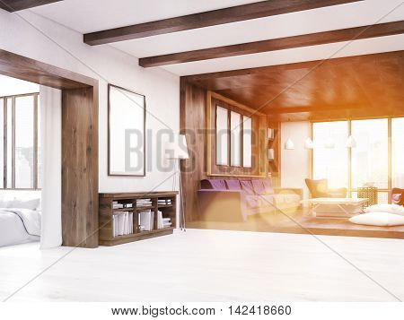 Comfortable Living Room With Sunlight
