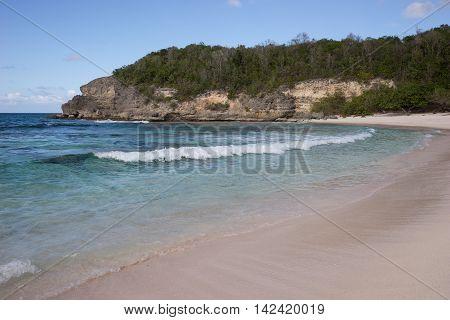 Caribbean beach in Guadeloupe, Plage de l'anse Laborde