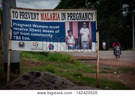 Makeni Sierra Leone Africa - June 06 2013: Makeni Bombali District North of Sierra Leone to prevent malary in pregnancy