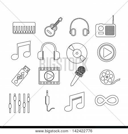 an images of Music icon illustration design