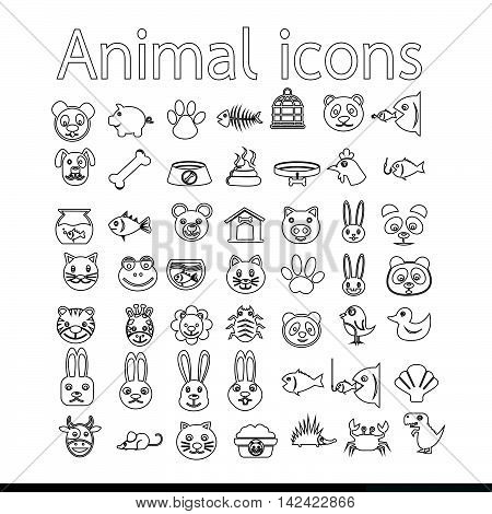 an images of Animal icon illustration design