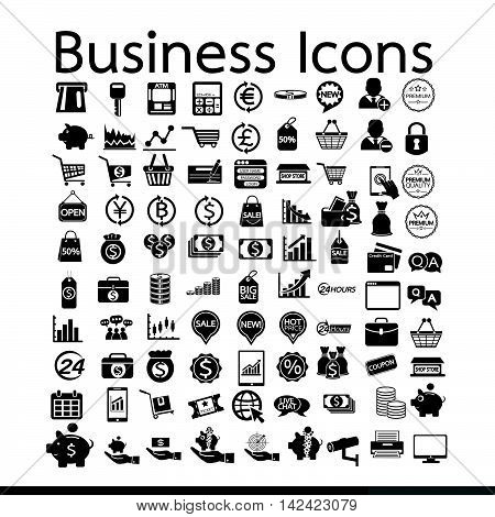an images of Business Icons illustration design