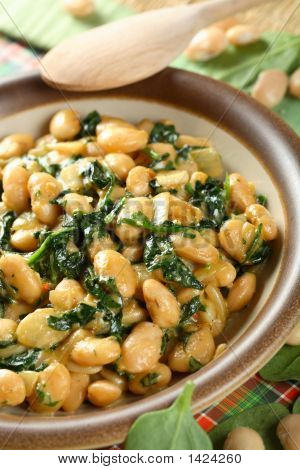 Bean With Spinach