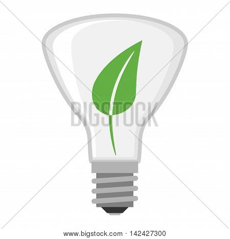 Cartoon nature energy save lamp electric and bright cartoon interior light tool flat vector. Flat lamp light bulb electricity design vector illustration. Vector light bulb leaf creative idea concept
