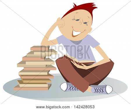 Book lover. Teenager needs to read a lot of books