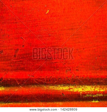 Textured dirty and worn striped red background in square format.