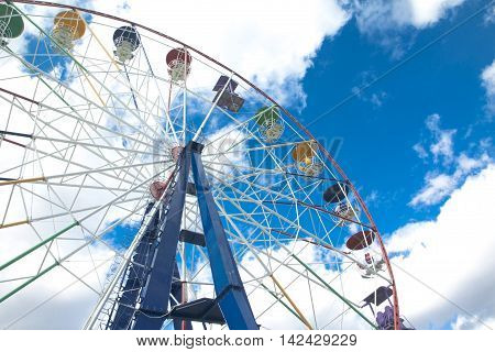 Ferris Wheel In An Amusement Park