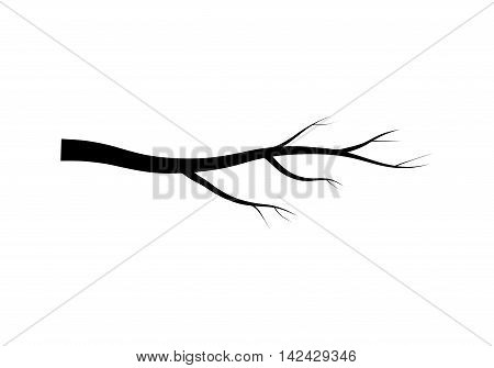 Bare Branch Tree Silhouette Vector Symbol Icon Design. Beautiful Illustration Isolated On White Back