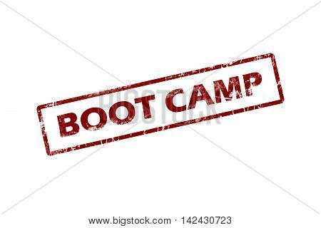Rubber stamp with text boot camp inside
