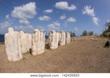 Martinique, slave memorial in Le Diamant in West Indies