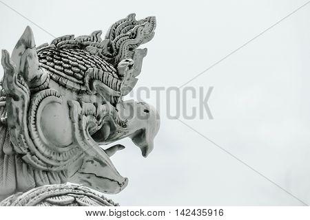 The Thai Style of Garuda Statue at the National Museum, Bangkok. Thaland