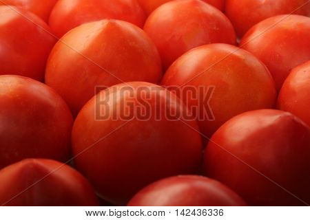 Many red tomatoes for a healthy and happy life