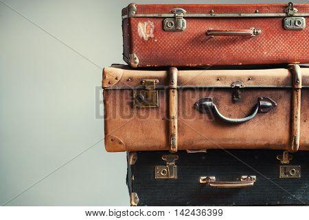 Vintage Tower Ancient Trunks Luggage Traveler