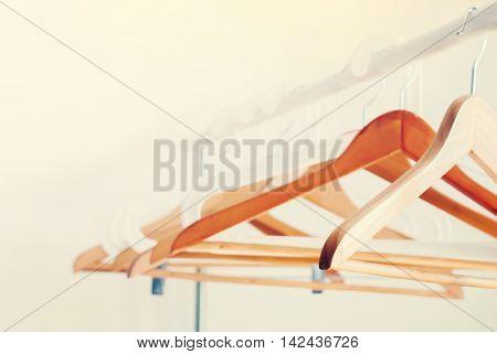 New Design Project Concept Empty Open Cloth Rail