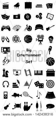 set of icons dedicated to arts games sport and entertainment.