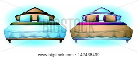 Cartoon Vector Illustration Interior Bed