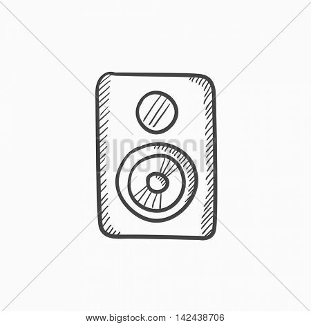 MP3 player vector sketch icon isolated on background. Hand drawn MP3 player icon. MP3 player sketch icon for infographic, website or app.