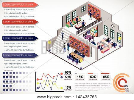 Illustration Of Info Graphic Interior Room Concept