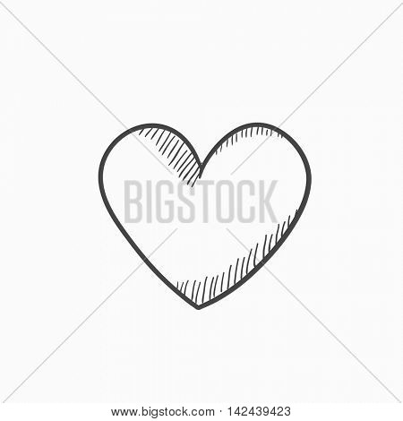 Heart sign vector sketch icon isolated on background. Hand drawn Heart sign icon. Heart sign sketch icon for infographic, website or app.