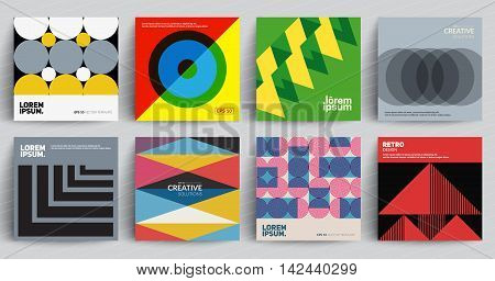 Retro covers set. Colorful modernism. Eps10 vector. Future covers design, vector illustration.